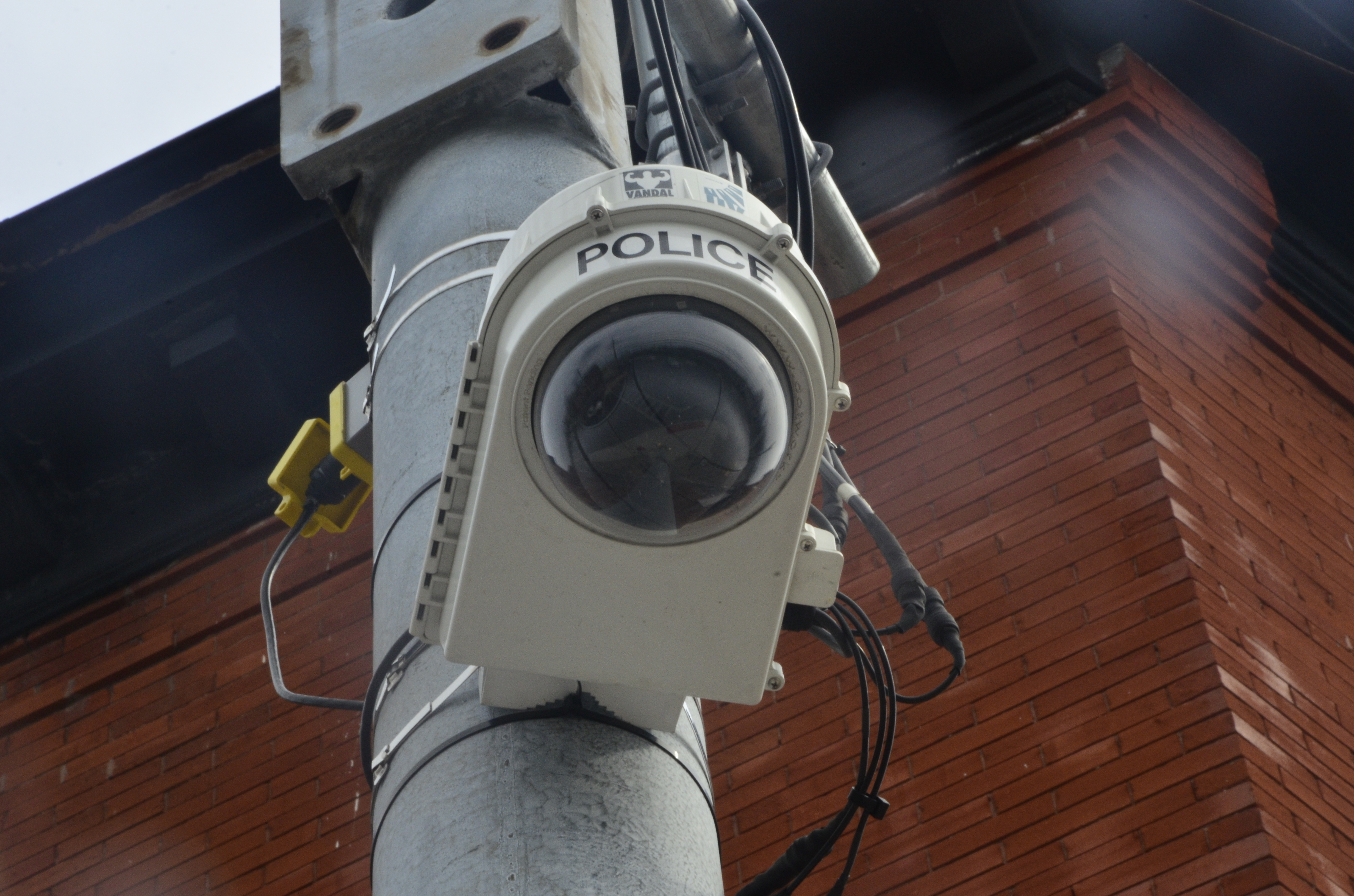A surveillance camera at the intersection of South Geddes and Gifford streets. (Madina Toure)