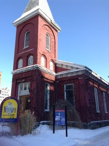 Wesleyan Methodist Church, now The Mission Restaurant, was a stop on the underground railroad. It's basement is believed to be a safe house where fugitive slaves hid. Photo by Shantinique Brooks.